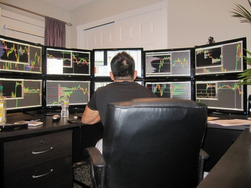 Day trading computers and monitors