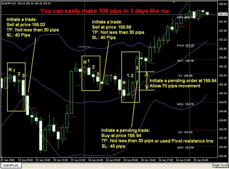 Make 100 pips a day in forex